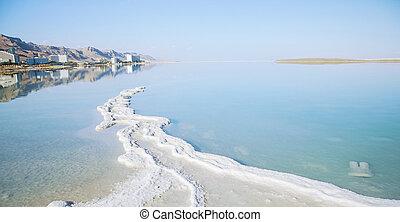 só, tengerpart, tenger, ásvány, holt