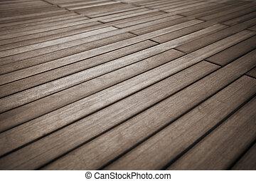 sólido, madeira, pavimentando