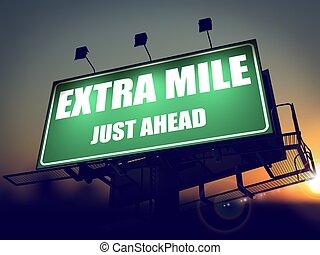 sólo, adelante, extra, milla, verde, billboard.