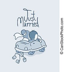sólo, viaje, casado