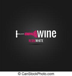 sótano, diseño, botella, plano de fondo, vino