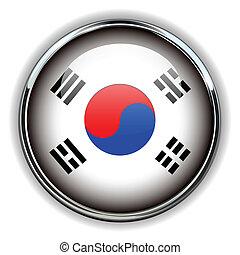 södra korea, knapp