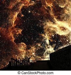 söhne, von, sternen, (elements, von, dieser, bild, möbliert,...