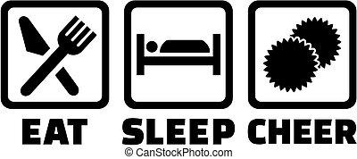 sömn, äta, cheerleading