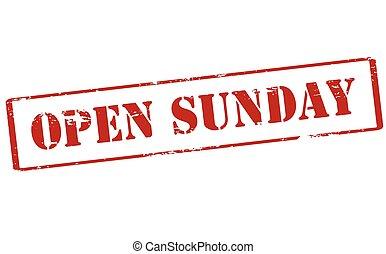 söndag, öppna