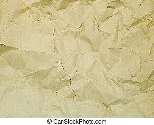 sönderrivet, rynkig, papper