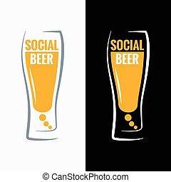 söröspohár, társadalmi, média, fogalom, háttér