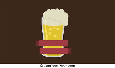 sör, élénkség, video, pohár