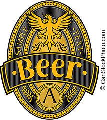 sör, tervezés, címke