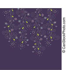 sötét bíbor, virágos, háttér