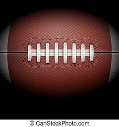 sötét háttér, közül, amerikai futball, ball.
