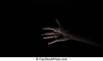 sötét, kéz