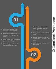 sötét, simplistic, infographic, tervezés, háttér
