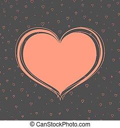 sötét, szív, piros háttér