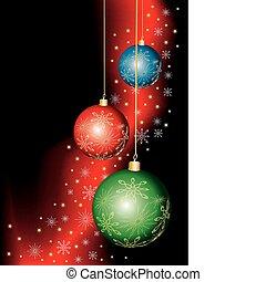 sötét, vektor, karácsony, háttér