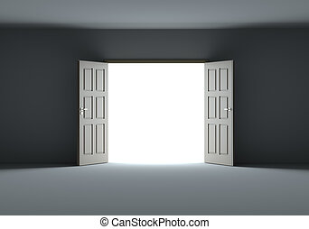 sötétség, nyílás, csillogó látszik, fényes, ajtók