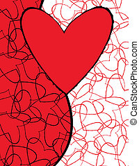 söt, älska hjärtan