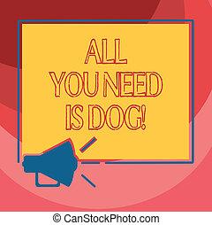 söt, alla, fyrkant, foto, photo., hund-, underteckna, tom, behov, högtalare, älskarna, utrymme, ljud, text, begreppsmässig, dig, megafon, vara, få, visande, happier, grunddrag, ikon, dog., valp, djuren
