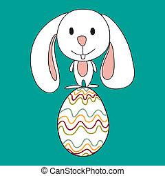 söt, baby, påsk kanin