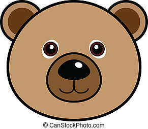 söt, björn, vektor