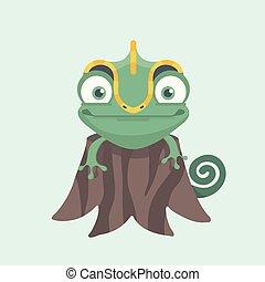 söt, chameleon.