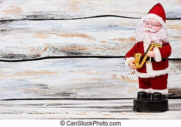 söt, claus, space., marionett, jultomten, avskrift