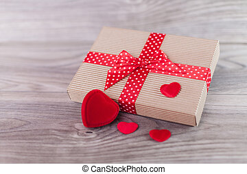 söt, dag, gåva, valentinkort
