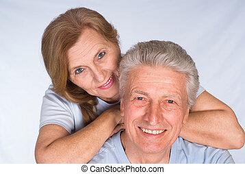 söt, elderly kopplar ihop