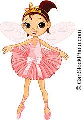 söt, fe, ballerina