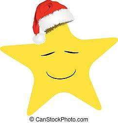 söt, jul, stjärna