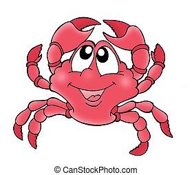söt, krabba