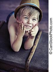söt, liten pojke