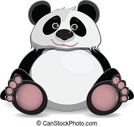 söt, panda, fett