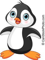 söt, pingvin