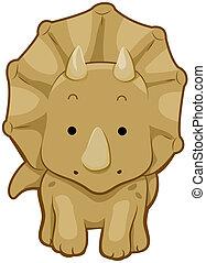 söt, triceratops
