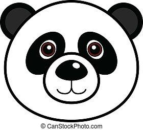 söt, vektor, panda