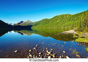 sø, bjerg