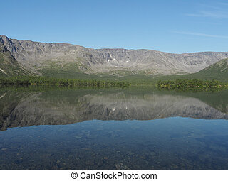 sø, bjergene