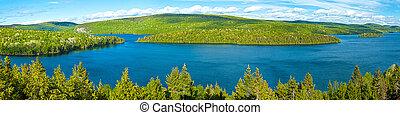 sø, i, sacacomie, ind, quebec, canada