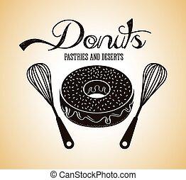 sød, donuts