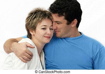 sød, ungt par
