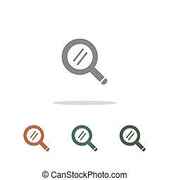 søgen, hvid, ikon, isoleret, baggrund