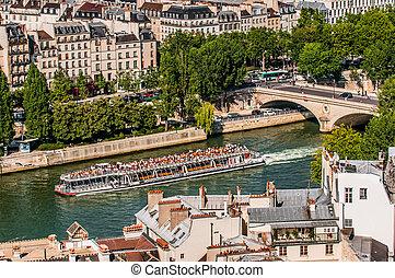 søside, paris, byen, frankrig