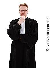 súlyos, fiatal, ügyvéd