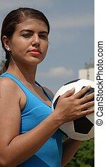 súlyos, futball játékos