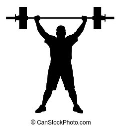súlyozott lifter, atléta