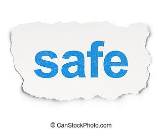sûr, sécurité, fond, concept: