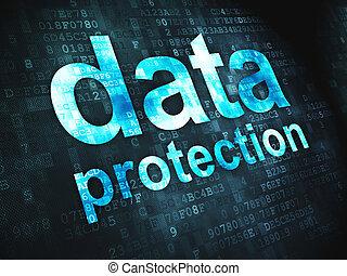 sûreté protection, fond, numérique, données, concept: