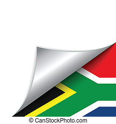 südafrika, land, fahne, drehen seite