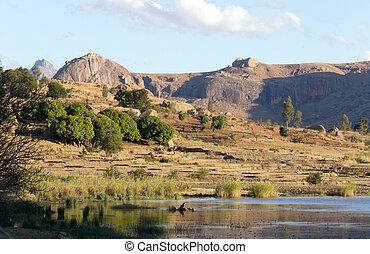 süden, landschaftsbild, typisch, madagaskar